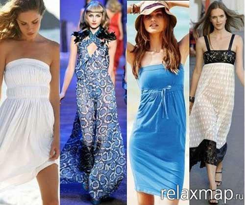 Модные женские сарафаны